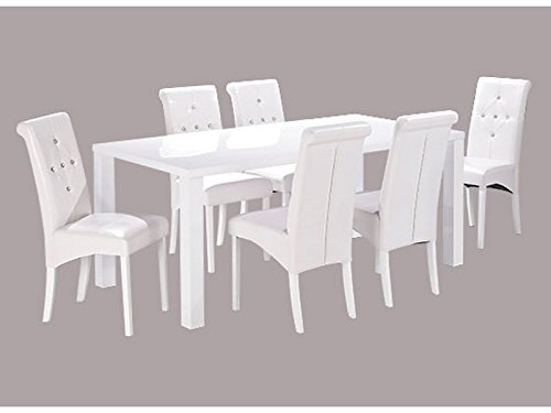 Monroe White Large Dining Table (Chairs Sold Separately)