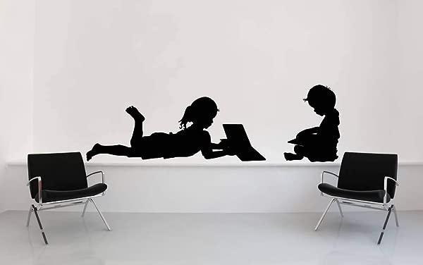 美国制造阅读墙艺术阅读墙贴花书籍图书馆装饰学校装饰读者礼物男孩贴纸乙烯基家庭托儿所装饰和棍子