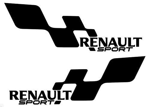 Pumpkiin Prints 2 x Renault Sport Style Vinyl Aufkleber Aufkleber Clio Megane Custom Sport Cup 25,4 cm