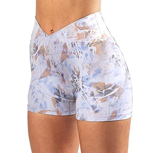 ArcherWlh Leggings Push Up,2021 transfronteriza Europeo y Americano Estampado de Mujeres Deportes Pantalones Cortos de Yoga Slim High Cinte Leggings UltraShire-2#_XXL