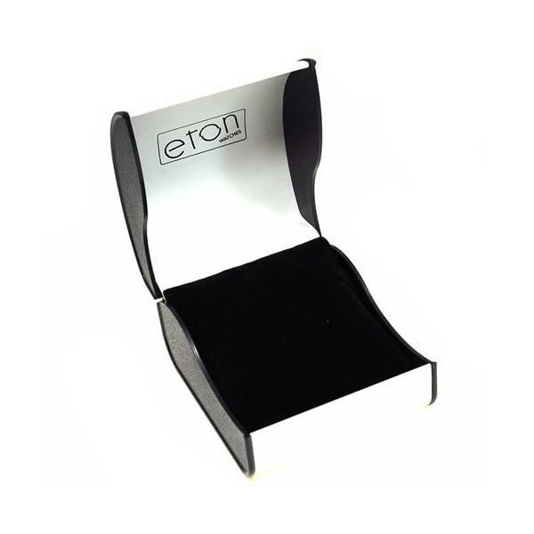 Eton Ladies White Dial Floral Rubberised Metal Bracelet Strap Watch 3151LB