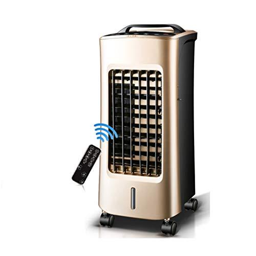 XPfj Mobiele airconditioner, koud/warm dual gebruik, met waterkoeling, luchtbevochtiger, luchtreiniger, 4-in-1 luchtkoeler, zonder slang, energiezuinig, kaki