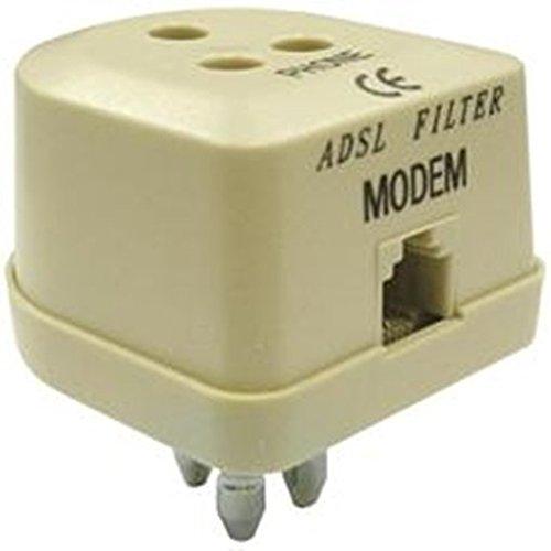 Filtro ADSL TRIPOLARE Rj11 Adattatore a muro Cordless PC Presa Tripla DF 8072070