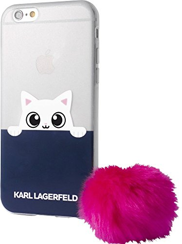 Karl Lagerfeld KLHCP7TRGPABPI K-Peek A Boo TPU Schutzhülle für Apple iPhone 7 Glitzer/rosa
