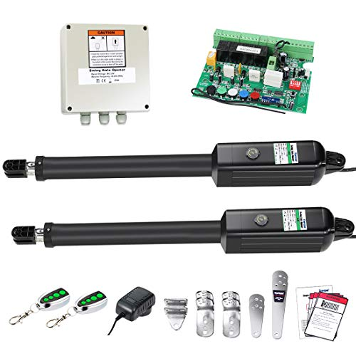 TOPENS AD5 Automatic Gate Opener Kit Medium Duty Dual Gate Operator for Dual Swing Gates Up to 16 Feet or 550 Pounds Gate Motor