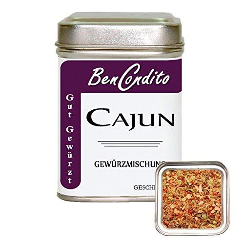 BenCondito I Cajun Gewürz - scharfe Amerikanisch-Französische Gewürzmischung 80 Gr. Dose