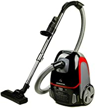 Ovente Electric Bagged Lightweight Canister Vacuum Cleaner with 2 Speed Control & HEPA Filter, Powerful Portable Suction Machine with 3 Cleaning Attachments for Hard Floor and Carpet, Black ST1600B