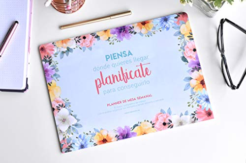 Takenote - Planificador semanal perpetuo- Floral- A4 210 x 297 mm