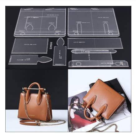 N / A 1Set Acrylic Leather Template Lady Handbag Messenger Bag DIY Model