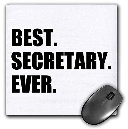 Alfombrilla de ratón para juegos para bloc de notas La mejor secretaria de todos los tiempos Regalo divertido para secretarias talentosas Alfombrilla de goma antideslizante para decoración de escritor