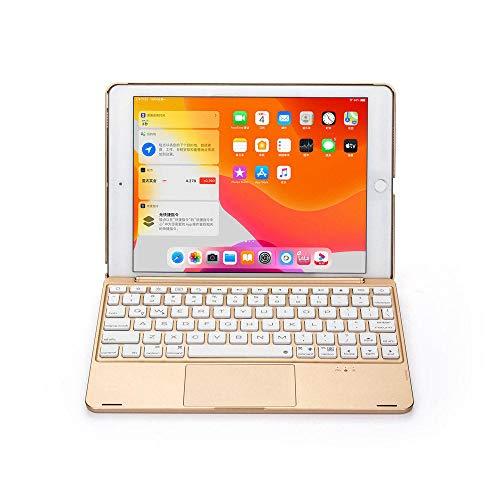 para el Nuevo iPad 9.7 2017 2018 / Pro 9.7 / Air 1 & 2Tablet Aluminium Backlight Wireless Bluetooth Hebreo Teclado de trackpad Cubierta de la Caja Teclado inalámbrico Bluetooth