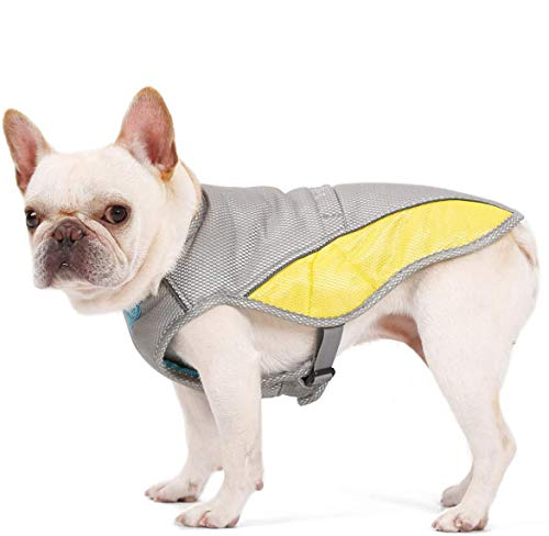 Vsing Dog Cooling Vest - Breathable Dog Cooler Jacket with Adjustable Harness Straps and Leash Hole for Small and Medium Dogs to Stay Cool in Hot Summer (M)