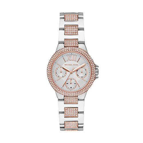 Michael Kors Women's Camille Quartz Watch with Stainless Steel Strap, Silver, 9 (Model: MK6846)