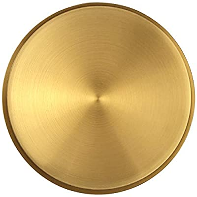 FREELOVE Gold Serving Tray, 12 in. Round Tray Stainless Steel Platter Bathroom Sink Vanity Trays Cosmetics Jewelry Organizer Towel Tray Tea Tray Decorative Tray (Brass, Round 12 inch)
