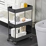 AOJIA Slim Storage Cart, 3 Tier Slide Out Storage Cart Bathroom...