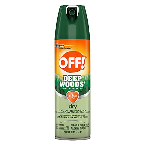 OFF! Deep Woods Insect & Mosquito Repellent VIII, DryTouch Technology, Long Lasting Protection 4 oz.