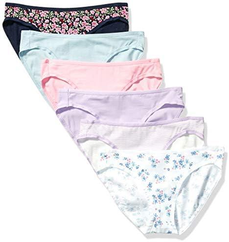 Amazon Essentials Women s 6 Pack Cotton Bikini Underwear Wildflowers XS product image