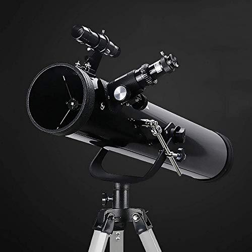 Schützks Telescopio portátil de Viaje para Adultos, Apertura de 76 mm Telescopio Refractor astronómico de Longitud Focal de 700 mm...