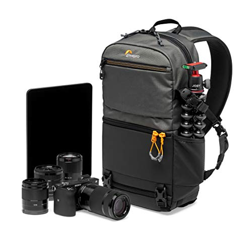 Lowepro Slingshot SL 250 AW III Kamerarucksack - Kameratasche / Fototasche für spiegellose und DSLR-Kameras, Fach für 10-Zoll-Tablet, für Sony A7, iPad, Surface Pro, 300D Ripstop, Grau