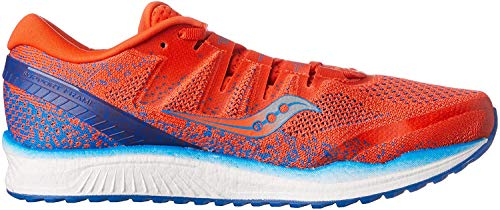 Saucony Freedom ISO 2, Zapatillas de Running para Hombre, Naranja (Orange/Blue 36), 42.5 EU