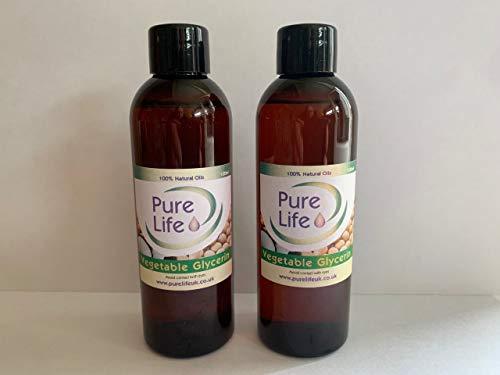 Glicerina vegetal, glicerol – Grado para alimentos y cosméticos, disponible en botellas de 100 ml y 200 ml
