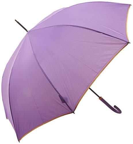 Perletti 21624Lady 63/8AUT Licht massiv Farben mit Bordüre und Saum Winddicht Microfaser Regenschirm