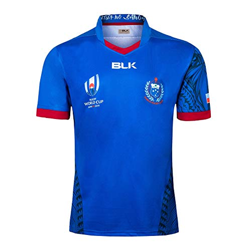 DXJJ Japan World Cup Samoa Home and Away Football Jerseys,Allowing Better Comfort and Breathability While Raglan Seam Shaping Gives Increased Mobility,Blue,XL