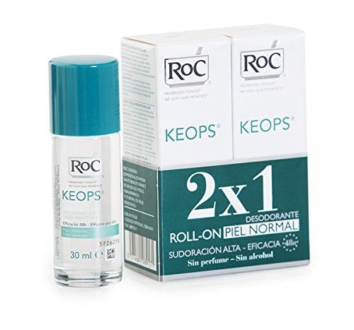 ROC KEOPS - Desodorante Roll On, Piel Normal, 30 ml (x2)