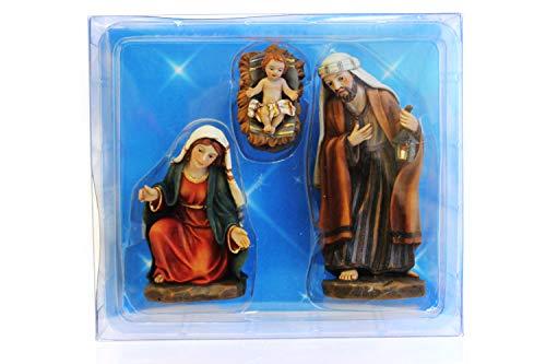 Creation Gross Krippenfiguren heilige Familie: Maria, Josef & Jesus in Krippe in Plastikbox H.: 11,5cm