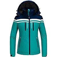 Skieer Women's Ski Jacket Winter Coat with Detachable Hood