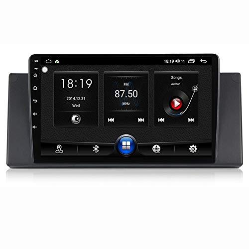 TypeBuilt Autoradio Android 10.0 Navigazione GPS 9 Pollice Video Touch Multimedia per BMW E39 (E53/X5) Supporto RDS BT Radio FM MA 12V Dab Chiamate in Vivavoce SWC,7731,1G+16G
