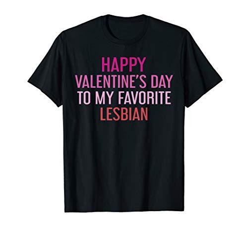 lesbian gifts for wifes My Favorite Lesbian T-Shirt LGBT Lesbian Couple Shirt Women