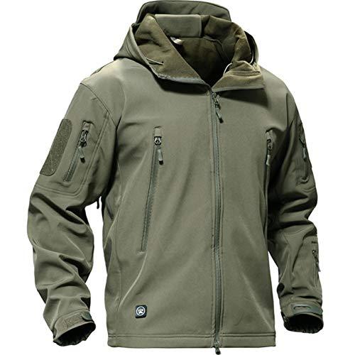 Casivent Herren Taktische Armee Outdoor Mantel Camouflage Softshell Jacke Jagdjacke L grün