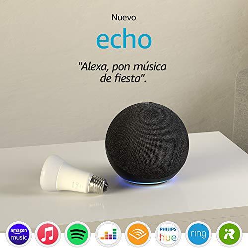 Nuevo Echo (4.ª generación), Antracita + Philips Hue White BombillaLED E27