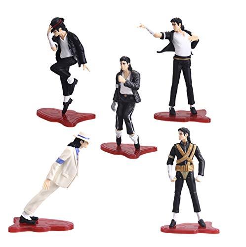 EASTVAPS 5 Piezas Michael Jackson Figura de acción de Juguete