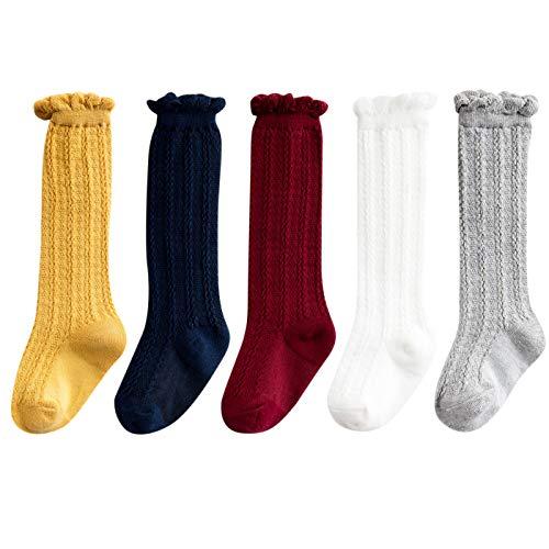 Calcetines de algodón para bebés y niñas, 5 unidades, para bebés o bebés, unisex, paquete de 5 unidades, grupo 3 de 3 a 12 meses