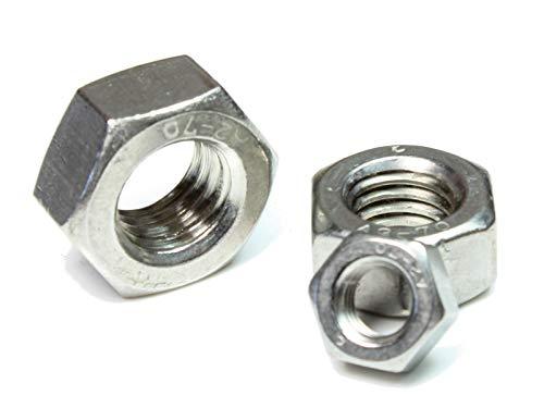 DIN 934 / ISO 4032/4033 PROFI Sechskant Mutter Regelgewinde K70 V2A Edelstahl rostfrei - DIN934 PROFI 6kt MUTTER RGW G70 A2 EDS - M6 (20 Stück)