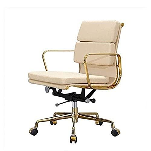 KMDJ Chefsstuhlmöbel Computer Stuhl Home Modern Minimalistische Aufzug Drehstuhl Ergonomisch Leder Bürostuhl weiche Packungssitz