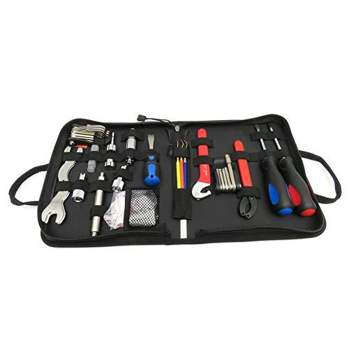 Kit de herramientas de buceo BCD Regulador Herramienta de reparación Deluxe Diver Kit de herramientas con bolsa de almacenamiento Juego de destornilladores negros