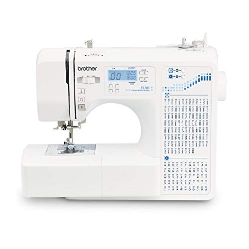 Brother FS 101 Computerized Plastic Sewing Machine, White