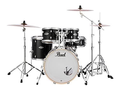 Pearl Export 5-pc. Drum Set w/830-Series Hardware Pack, Jet Black, inch (EXX705N/C31)