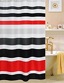 Best red and white shower curtain Reviews