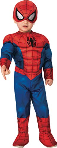 Rubie's Baby Boys' Marvel Super Hero Adventures Deluxe Costume, Spider-Man, Toddler