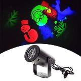 Christmas Laser Lights, 12 Pattern, Waterproof Projector Lights LED Landscape Spotlight, GRB Colorful