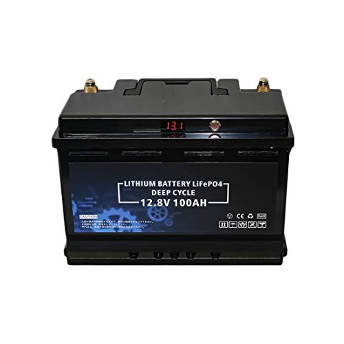 @NSS リチウムイオンバッテリー 12V 100Ah 1280Wh 電圧表示機能 長寿命3500サイクル オリジナルBMS内蔵 直...