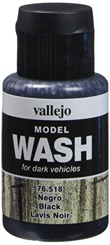 Vallejo Model Color Waschfarbe, 35 ml, Schwarz