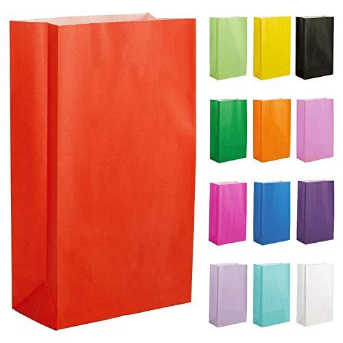 Thepaperbagstore 20 Papiertüten für Partys und Geschenke - Rot - 140x245x70mm
