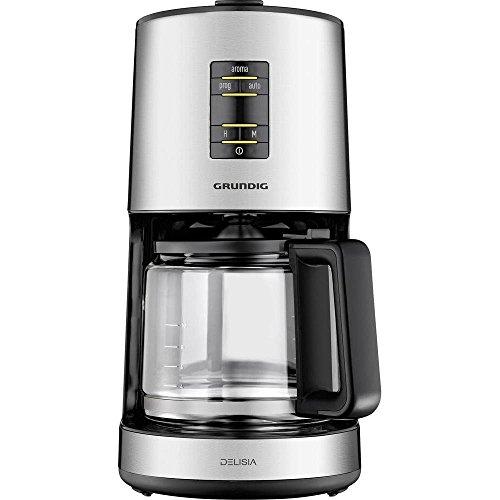 Grundig KM 7680 Kaffeemaschine aus hochwertigen Materialien in edlem Design, edelstahl