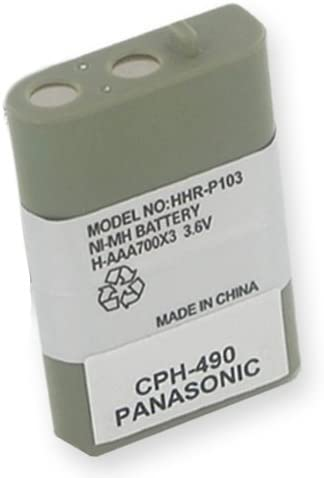 1 X Panasonic KX-TD7896 Cordless Phone Battery 3.6 Volt, Ni-MH 700mAh - Replacement For PANASONIC HHR-P103 by EMPIRE