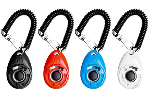 EcoCity 4-Pack Dog Training Clicker with Wrist...